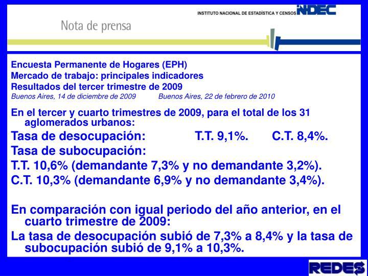 Encuesta Permanente de Hogares (EPH)