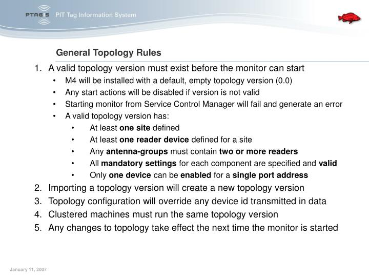 A valid topology version must exist before the monitor can start
