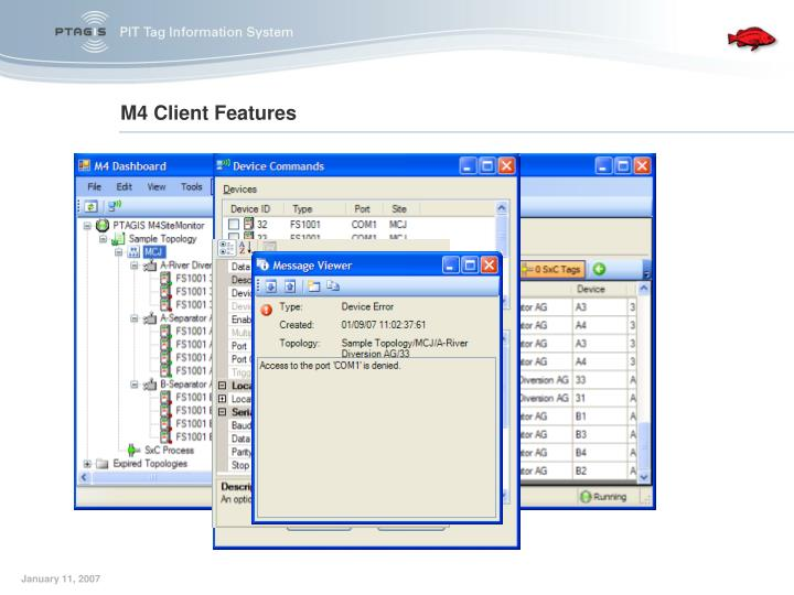 M4 Client Features