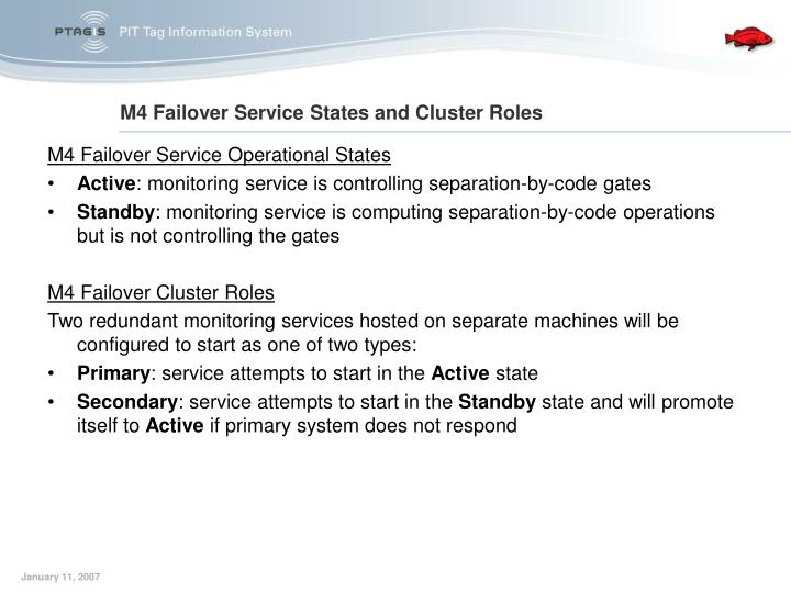 M4 Failover Service Operational States