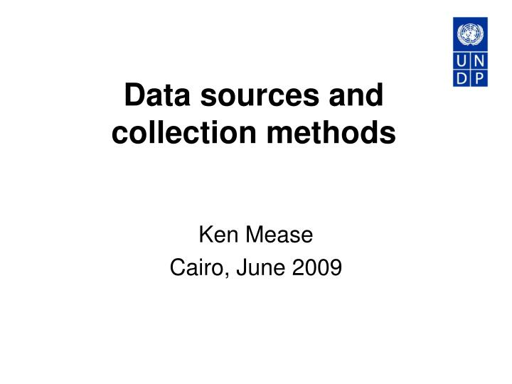 Data sources and