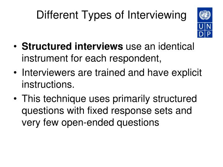 Different Types of Interviewing