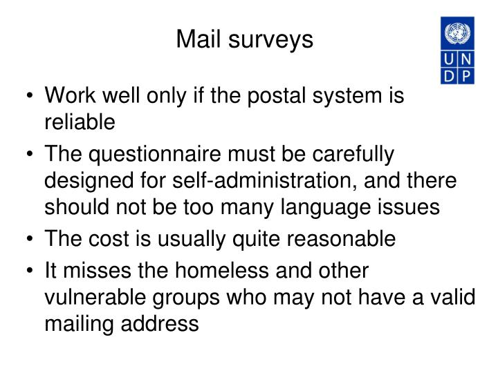 Mail surveys