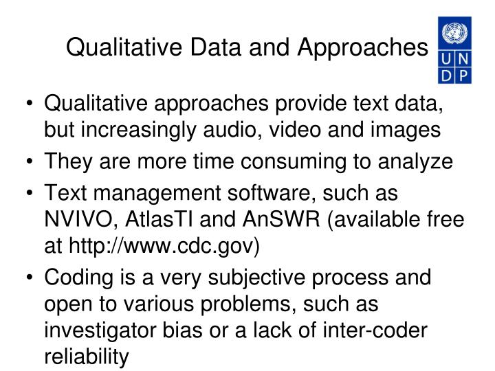 Qualitative Data and Approaches