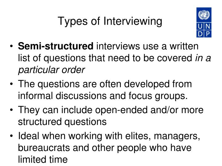 Types of Interviewing