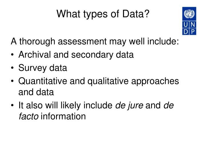 What types of data