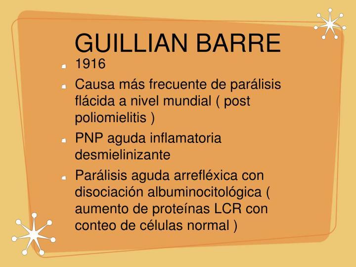 GUILLIAN BARRE