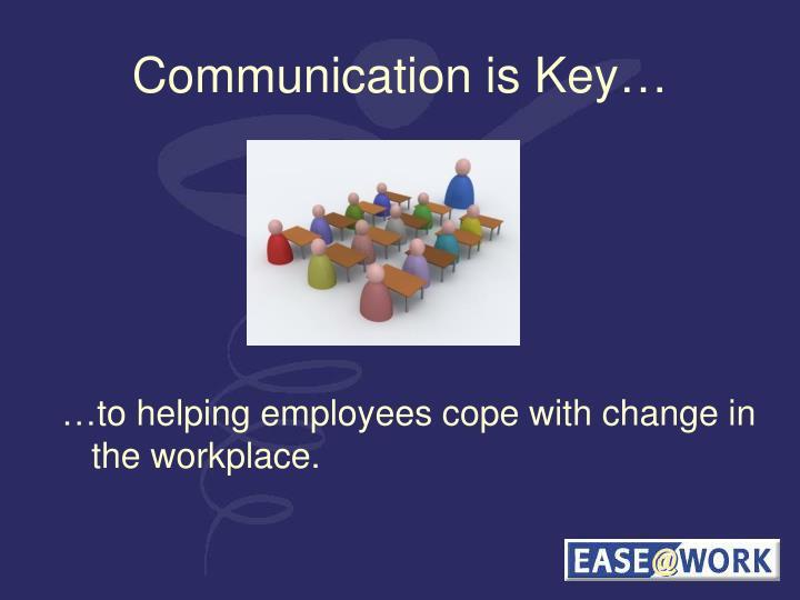 Communication is Key…