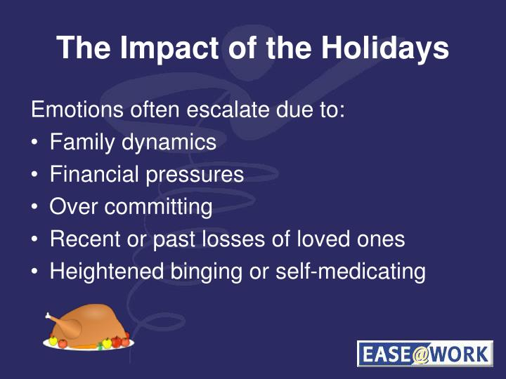 The Impact of the Holidays