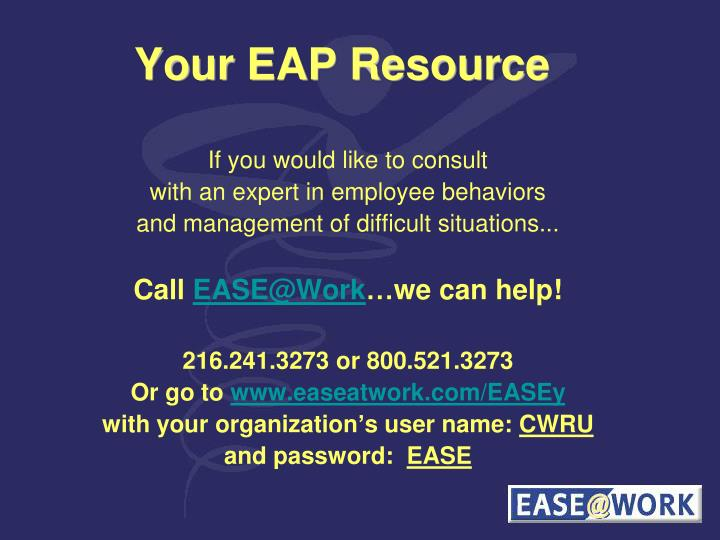 Your EAP Resource