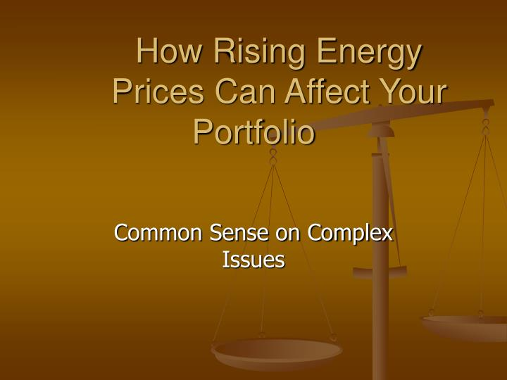 How rising energy prices can affect your portfolio
