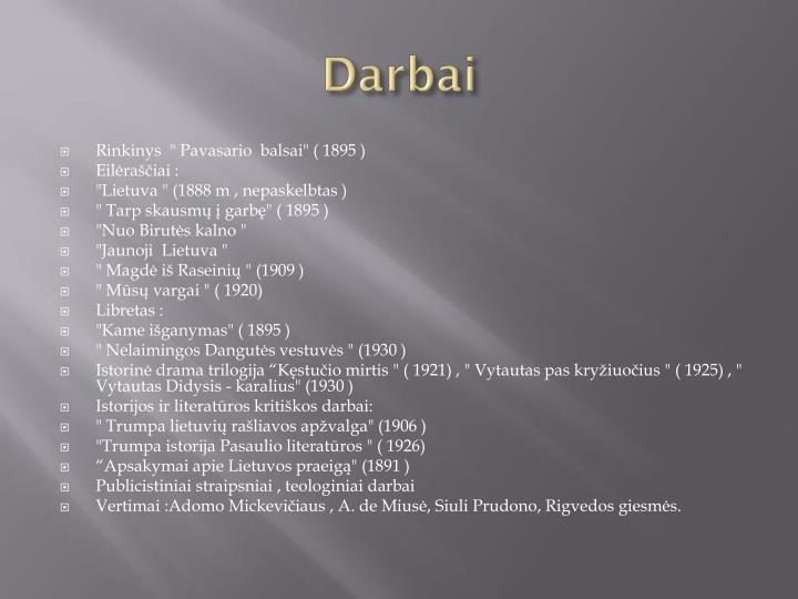 Darbai