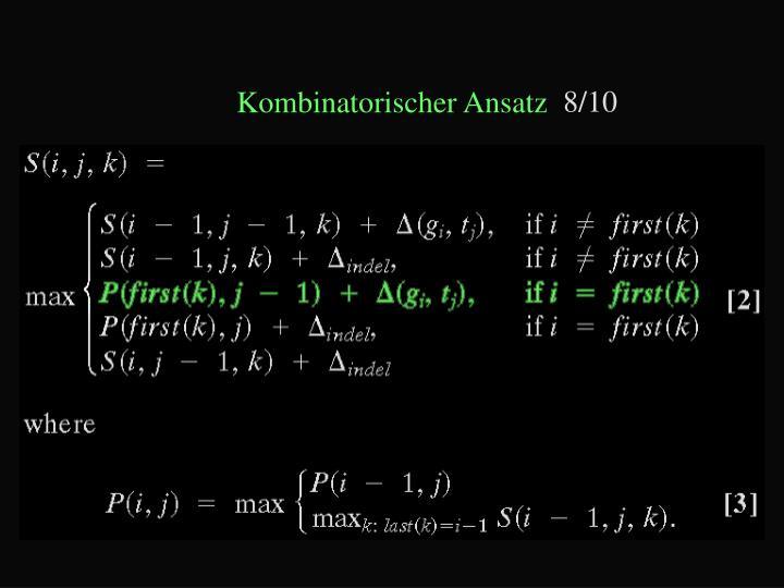 Kombinatorischer Ansatz
