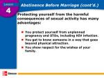 abstinence before marriage cont d