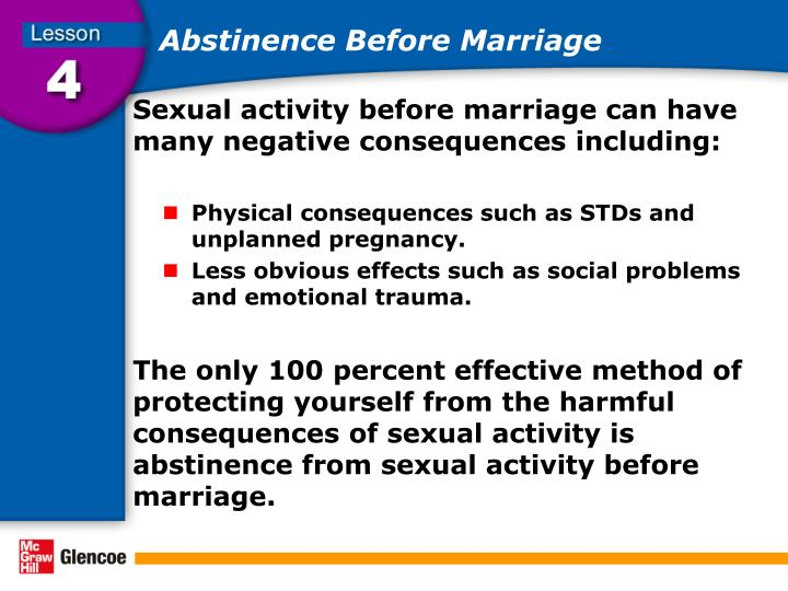 Abstinence Before Marriage