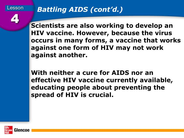 Battling AIDS (cont'd.)