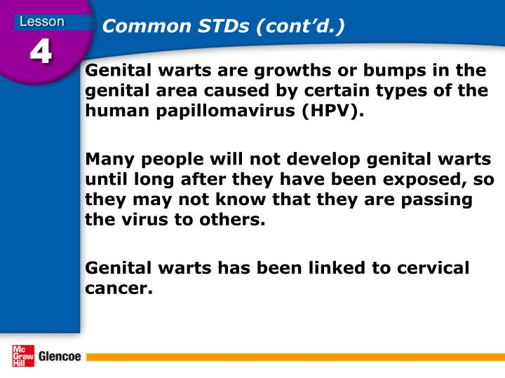Common STDs (cont'd.)
