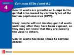 common stds cont d