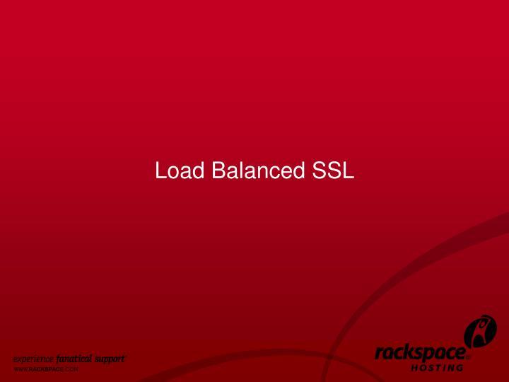 Load Balanced SSL