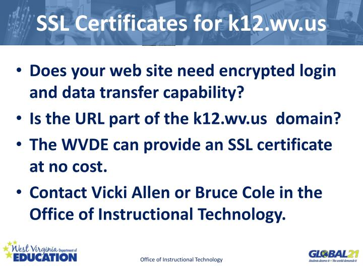 SSL Certificates for k12.wv.us