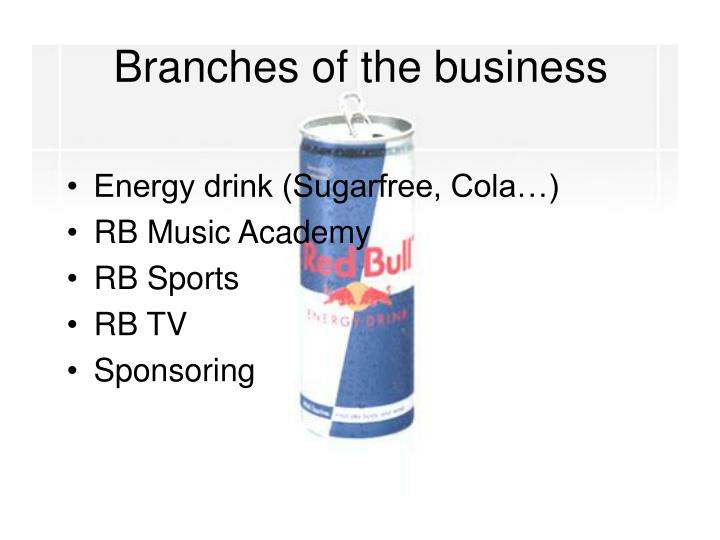 Branches of the business