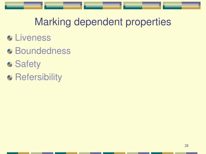 Marking dependent properties