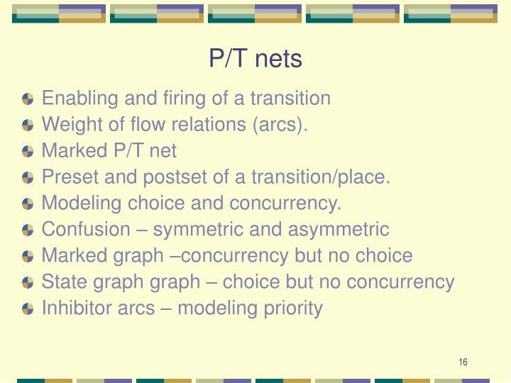 P/T nets