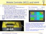 module controller mcc and hybrid