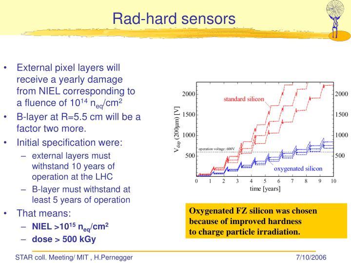 Rad-hard sensors