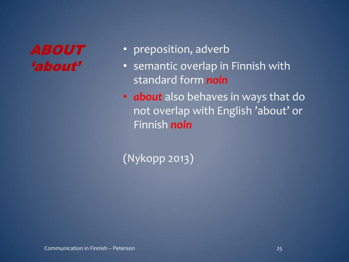 preposition, adverb