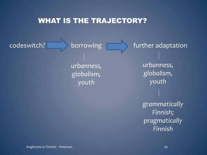 What is the trajectory?