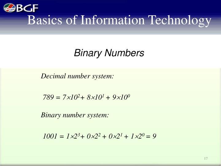 Decimal number system: