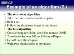 example of an algorithm 2