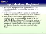 input devices keyboard