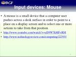 input devices m ouse