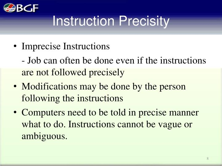 Instruction Precisity