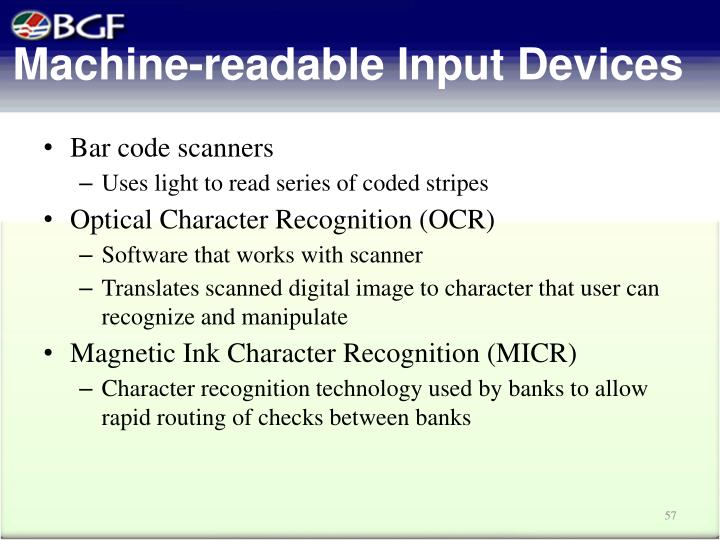Machine-readable Input Devices