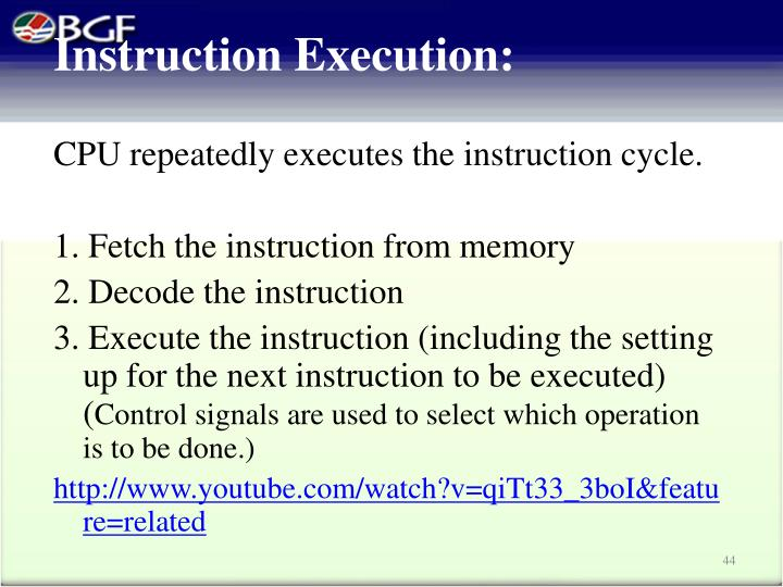 Instruction Execution: