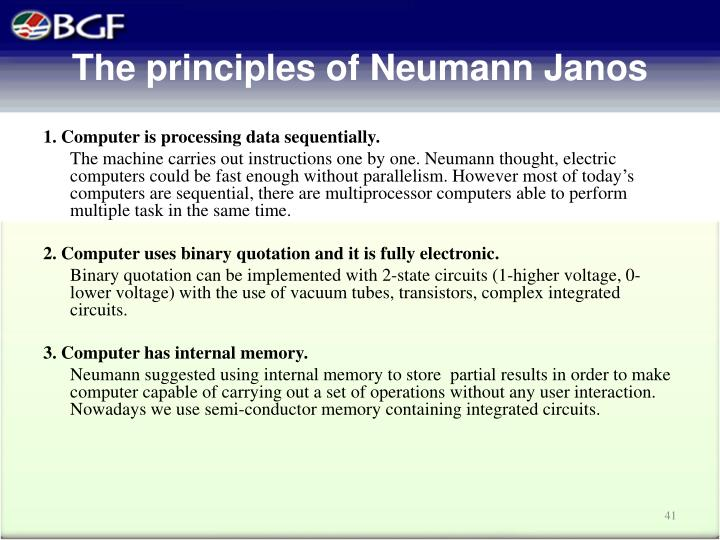 The principles of Neumann Jan