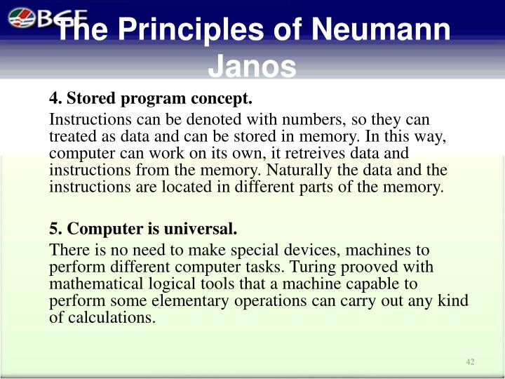 The Principles of Neumann Janos
