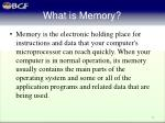 what is memory