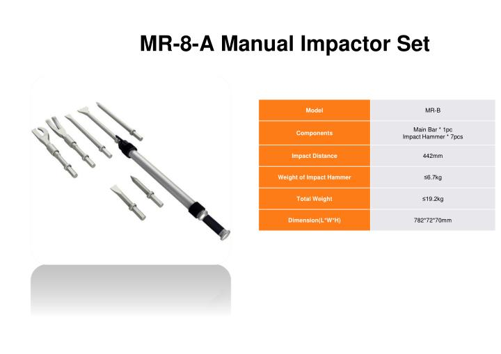 Mr 8 a manual impactor set