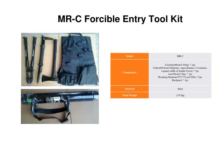 MR-C Forcible Entry Tool Kit