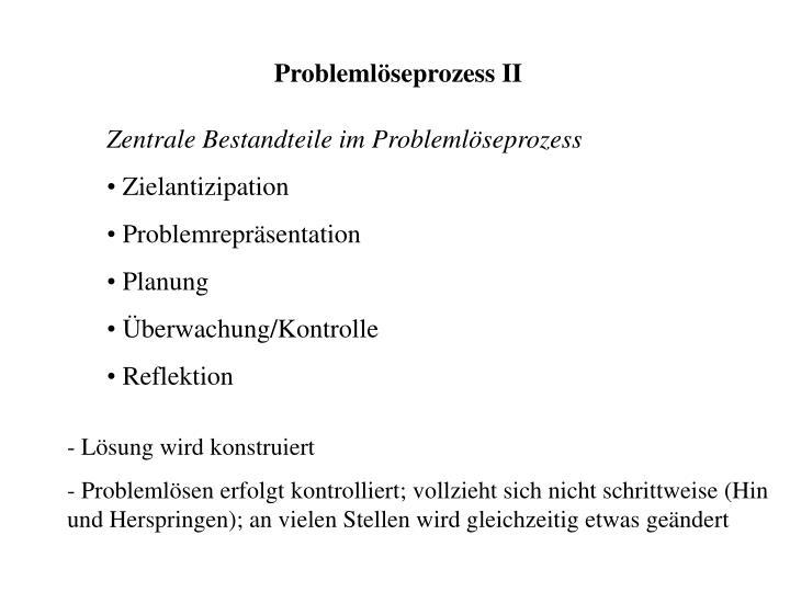 Problemlöseprozess II