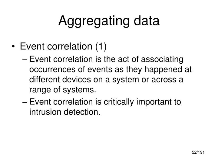 Aggregating data