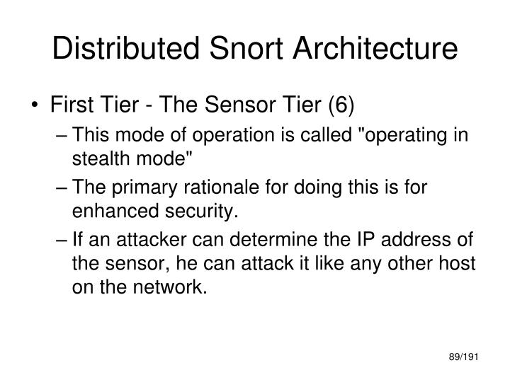Distributed Snort Architecture