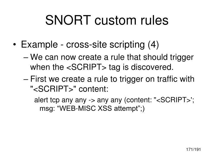 SNORT custom rules