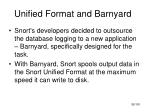 unified format and barnyard1