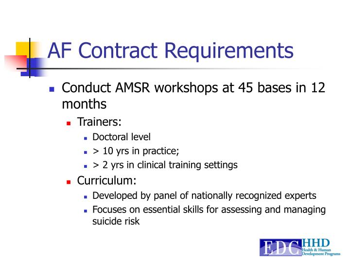 AF Contract Requirements