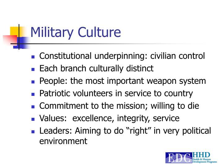Military Culture